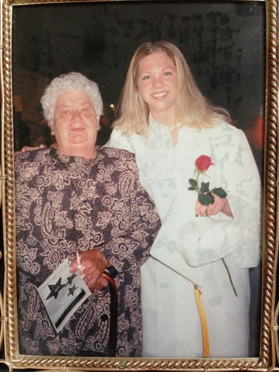 My Oma and I at my highschool graduation