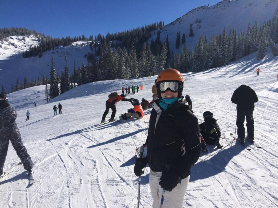 Happy mountain girl